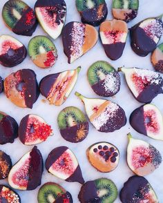 Chocolate Covered Kiwis and Figs | healthy recipe ideas @xhealthyrecipex |