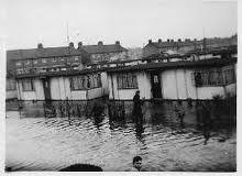 flooded prefabs Isle of Sheppey East Coast floods 1953