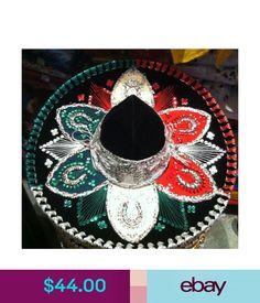Mariachi Charro Authentic Mexican Sombrero Hat Accessory Folklorico Outfit New Mariachi Hat, Mexican Sombrero Hat, Costumes, Ebay Clothing, Hats, Handmade, Accessories, Fashion, Moda