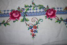 Rectangular Hand embroidered cross stitch by TASMANIANBEAUTIES