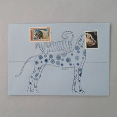 """158 Likes, 8 Comments - Petronella Periwinkle (@petronellaperiwinkle) on Instagram: """"This hand illustrated envelope started with the dogbreed stamp, issued by our postal services.…"""""""