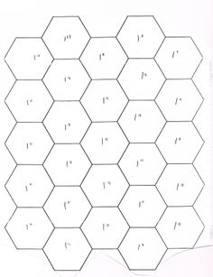 2 inch hexagon pattern. Use the printable outline for crafts