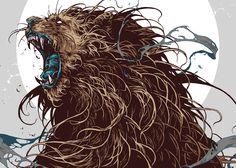 Graphic Design: Wild Creatures by Ivan Belikov