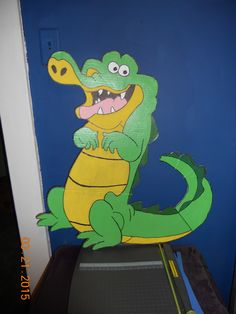 Homemade Pin The Tail On Tic Toc Croc game