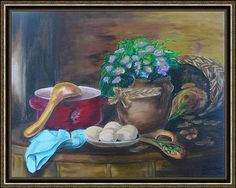 Csendélet tojással Anna, Painting, Painting Art, Paintings, Painted Canvas, Drawings