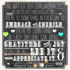 No Matter Our Circumstances.......
