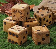 Giant Yard Yahtzee (dice, family games)
