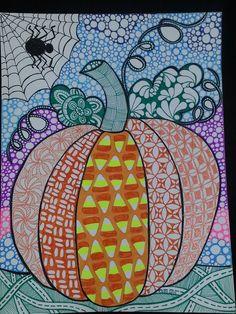 Zentangled Pumpkin