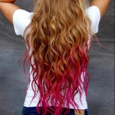 Dip dye, a great way to hide split ends and then just cut off after you're bored with it