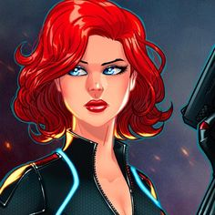regram @igloinor Black Widow panel print colored by me after Rich Bernatovech's lines. Full view on my facebook page.