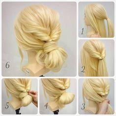 ルーズにまとめるヘアアレンジ  1.  トップのこれくらいを結ぶ。  2.  くるりんぱ。  3.  残りの毛をすべてまとめる。  4.  こんな形にお団子をつくる。  5.  お団子のはみ出た毛先をゴムに巻きつける。(巻きつけるのが難しかったらゴムの位置にバレッタとかシュシュでもOK)  6.  全体をほぐしたら完成。  #hair#hairarrange#hairset#hairstyle#ヘアカタログ#カワイイ#ヘアアレンジ#ヘアセット#アップスタイル#愛媛#松山市#updo#matuyama#lycka#簡単アレンジ#美容#cute#beauty#結婚式ヘアー#二次会ヘアー#ウェディングヘアー#ヘアアレンジプロセス#お団子アレンジ