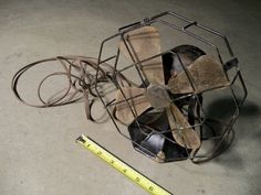 Antique Old Vtg. STAR RITE Fitzgerald Steampunk Cast Iron Art Deco Electric Fan