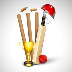 Abstract sports concept with cricket ball on wicket stumps. Cricket Poster, Cricket Logo, Cricket Bat, Cricket Sport, Free Letterhead Templates, Name Tag For School, 3d Art Drawing, Cricket Wallpapers, World Cricket