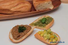 Avocado-Mango-Salsa + Basilikum-Mandel-Pesto + Auberginen-Dip mit Koriander einfache Rezepte zum Selbermachen #vegan #glutenfrei