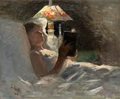 "Georg Pauli ""The Reading Light"" (1884)"