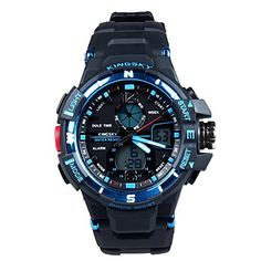 65e8578030ee Hiwatch Stopwatch Date Week Digital Analog 3ATM Waterproof Sports Watches  For Mens with Gift Box     Click image for more details.Note It is  affiliate link ...