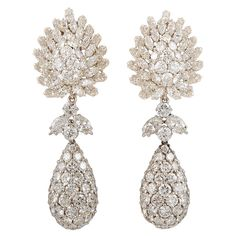 1stdibs | DAVID WEBB Diamond Pendant - Earclips