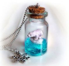 Mini bear inside a bottle