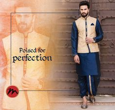 Look dapper in traditional colours and pose for the perfect group shot. #manishcreations #Indianwear #traditionalcolours #dilsedesi