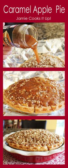 Caramel Apple Pie from Jamie Cooks It Up!