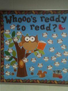 Cute owl bulletin board.