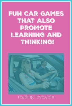 You will love these fun car games that also promote learning and thinking! You can use the time in the car to promote family bonding while learning and thinking skills are being practiced! Reluctant Readers, Struggling Readers, Fun Car Games, Family Bonding, Learning Time, Book Suggestions, Thinking Skills, Reading Skills, Reading Comprehension