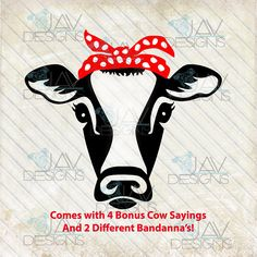 NEW - Not Today Heifer Cow ©Sadie Rosie the Riveter SVG, Bandanna cow head, Silhouette studio cut file png dxf cow face, farm girl Heifer Cow, Crown Images, Make Your Own Shirt, Cow Face, Cow Head, Cute Cows, Rosie The Riveter, Cricut Creations, Print And Cut
