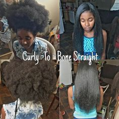 How To Get Natural 4a 4b 4c Hair Bone Straight With No Chemicals!!