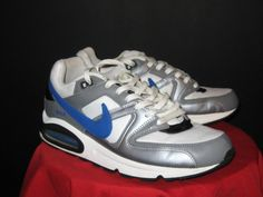 Mens Nike Air Max Command Running Sneakers Sz 11 White/Gray/Royal #Nike #Running #CrossTraining #shoes #mensclothes