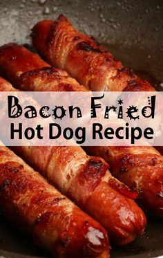 On The Chew, Michael Symon showed us his Bacon Fried Stuffed Hot Dogs Recipe, Cleveland take on a loaded hot dog. The Chew Recipes, Dog Recipes, Bacon Recipes, Great Recipes, Cooking Recipes, Favorite Recipes, Dinner Recipes, Bacon Hot Dogs, Fried Hot Dogs