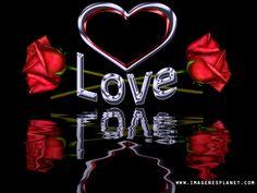 Imagenes gif animadas de corazon entre rosas con frases cortas de amor