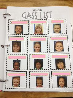 Great idea for class list and for when there is a sub in the classroom too!