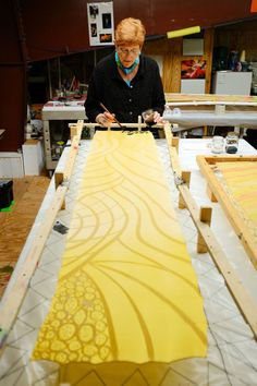 Joanna White, a fiber artist, found her niche painting silk when she became frustrated painting watercolors on paper.