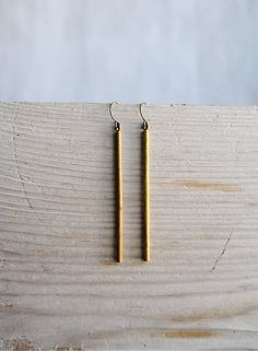 sparkle farm | vintage brass stick earrings