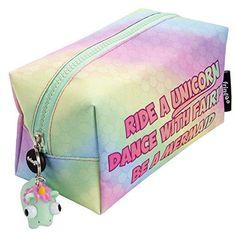 Kawaii 20CM Unicorn Gift Plush Coin BAG Purse Wallet Case Pen Bag Funny  Trendy