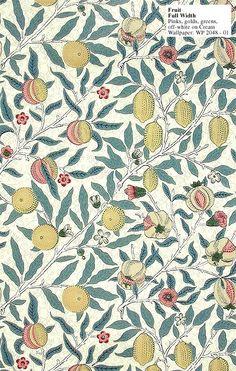 Fruit designed by William Morris in 1864