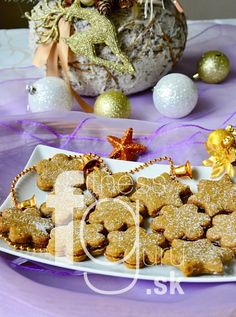 Špaldové linecké koláčiky s kokosovým cukrom