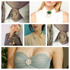 Style Notes: How to: Wear vintage brooches