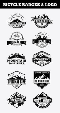Sport Bicycle Badges & by shazi on Bike Logo, Minimal Logo, Freelance Graphic Design, Logo Design Inspiration, Design Ideas, Creative Logo, Logo Templates, Design Templates, Business Card Logo