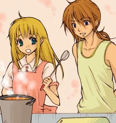 Cliff and Claire cooking Harvest Moon Game, Charles Spurgeon, Anime Couples, My Childhood, Seasons, Cliff, Nintendo, Rune Factory, Farming Life
