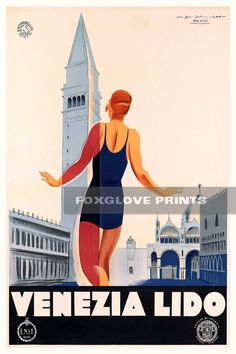Italy Vintage European Travel Advertisement Poster Print Do you know the land