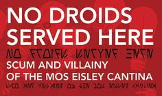 A Visual Guide To The Scum And Villainy Of The Mos Eisley Cantina