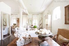 I love this house!  Atchison Home   Mobile Alabama   Loft Living Room   White Walls