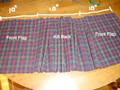 This is the way I make kilts; pinning for the next time someone asks, because they keep asking. :)