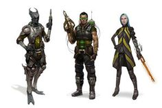 Sci-Fi Merc Squad