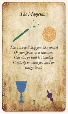 White Magic Tarot Spell Cards - I - The Magician