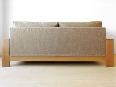 joystyle-interior   Rakuten Global Market: Oak wood oak solid natural wood wooden frames covering Sofer high density polyurethane and feather, solid frame made sofa-3 P couch-SOFA-M-OAK pillow 2 the amount depends on the Internet shop limited original size *!