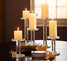 Carson Glass Pillar Candleholder #potterybarn $20.50 -$27.50