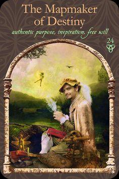 El Mapeador Of Destiny, de la sabiduría del reino oculto mazo de cartas Oracle, por Colette Baron-Reid