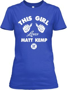 This Girl Loves Matt Kemp! And now everyone will know!